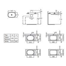Lavatório encastrado Inspira Soft Roca 55x37