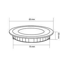 Placa LED circular ultra fina Ø8'5x2cm 3W -...