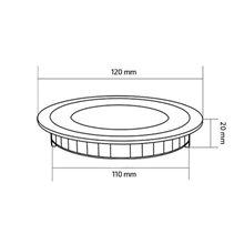 Placa LED circular ultra fina Ø12x2cm 6W - MoonLed