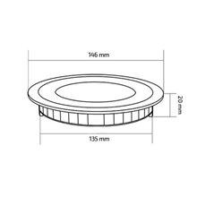 Placa LED circular ultra fina Ø14'6x2cm 9W -...