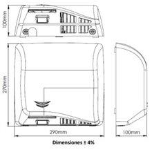 Secador de mãos acetinado Speedflow Plus -...
