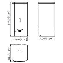 Doseador de sabão 1 L brilhante automático -...