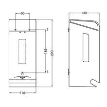 Dispensador de papel higiénico rolo duplo 0,9...