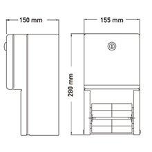 Dispensador de papel higiénico rolo duplo 2 Kg...