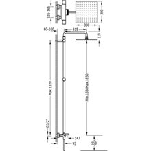 Conjunto de banheira-duche termostático PROJECT TRES