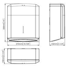 Dispensador 400/600 de toalhas preto - MEDICLINICS