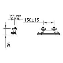 Torneira de duche termostático Nine Xtreme - CLEVER