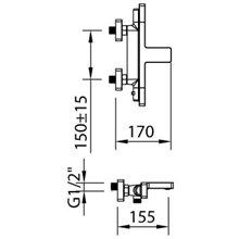 Torneira de banheira-duche termostática Nine Xtreme - CLEVER