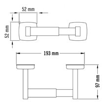 Porta rolos horizontal cinzento Medisteel - MEDICLINICS