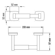 Porta rolos cinzento horizontal Medisteel - MEDICLINICS