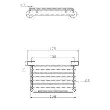 Saboneteira em grade de latão 175 mm Medicrom - MEDICLINICS