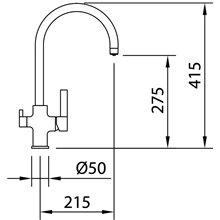 Torneira para lava-louças Osmose Square - CLEVER