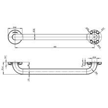 Barra reta 53 cm brilhante Medinox - MEDICLINICS