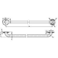 Barra reta 84 cm acetinada Medinox - MEDICLINICS