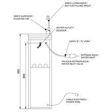 Bebedouro de agua refrigerada - NOFER
