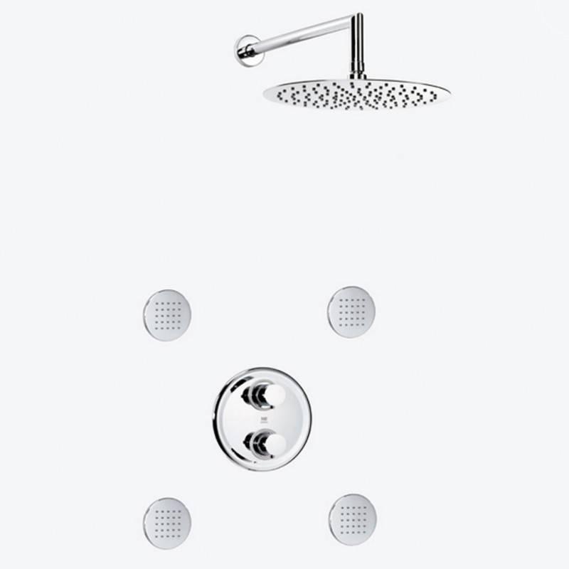 Conjunto de duche termostático extrafino DELTA - Griferías MR