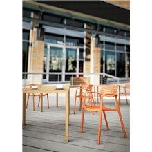 Conjunto de 2 cadeiras laranja TOLEDO AIRE - RESOL