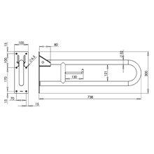 Barra rebatível 73,8 cm cinzenta Medinox - MEDICLINICS