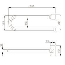 Barra rebatível vertical branca - MEDICLINICS