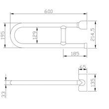 Barra rebatível vertical Tubocolor - MEDICLINICS