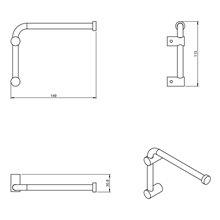 Toalheiro/Porta-rolos de papel higiénico giratório Logic COSMIC