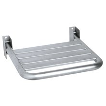 Assento rebatível acetinado aço inoxidável - MEDICLINICS