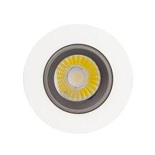 Foco LED circular direcionável Ø8'8x6cm 3W preto - MoonLed
