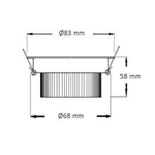 Foco LED circular direcionável Ø8'3x6cm 7W...