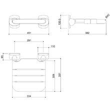 Assento rebatível aço nylon vinil - MEDICLINICS