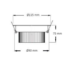 Foco LED circular direcionável Ø11'5x7'5cm 12W branco - MoonLed