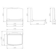 Assento branco polipropileno Tubocolor - MEDICLINICS