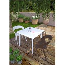 Conjunto de 2 cadeiras cor de areia CARLA - RESOL