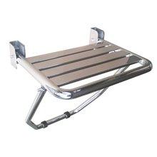 Assento rebatível com pé de apoio brilhante - MEDICLINICS
