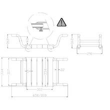 Assento de banheira extensível Tubocolor - MEDICLINICS