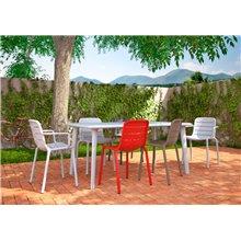 Conjunto de 2 cadeiras com braços brancas GINA...