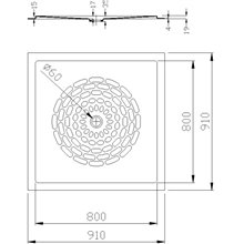 Base de duche fibra de vidro branca - MEDICLINICS