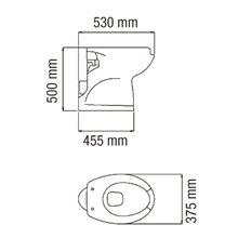 Sanita alta 50 cm com abertura - MEDICLINICS