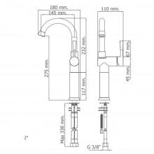 Torneira monocomando para lavatório com extensão RODA - Griferías MR