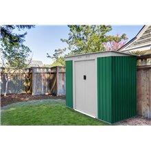 Abrigo metálico 2,43m² Buckingham verde Gardiun