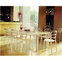 Conjunto de 4 cadeiras brancas MISS BIBI - RESOL
