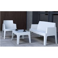 Sofá de exterior branco URBAN - RESOL