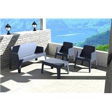 Sofá de exterior cinzento URBAN - RESOL