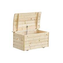 Baú de madeira 81x50x47cm Outdoor Toys