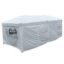 Tenda pavilhão dobrável 6x3x2,55m branca Outsunny