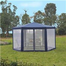 Tenda com rede mosquiteira hexagonal azul Outsunny