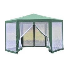 Tenda com rede mosquiteira hexagonal verde...