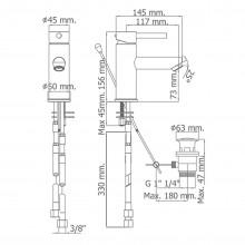 Torneira monocomando para lavatório DELTA 06 - Griferías MR