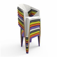 Conjunto de 24 cadeiras monoblock laranja DELTA...