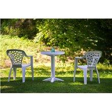 Conjunto de 32 cadeiras brancas CRETA - RESOL
