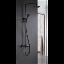 Coluna termostática de duche preto mate Londres - IMEX